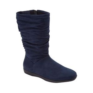 New aneela 9.5ww 9.5 navy blue wide calf bootie